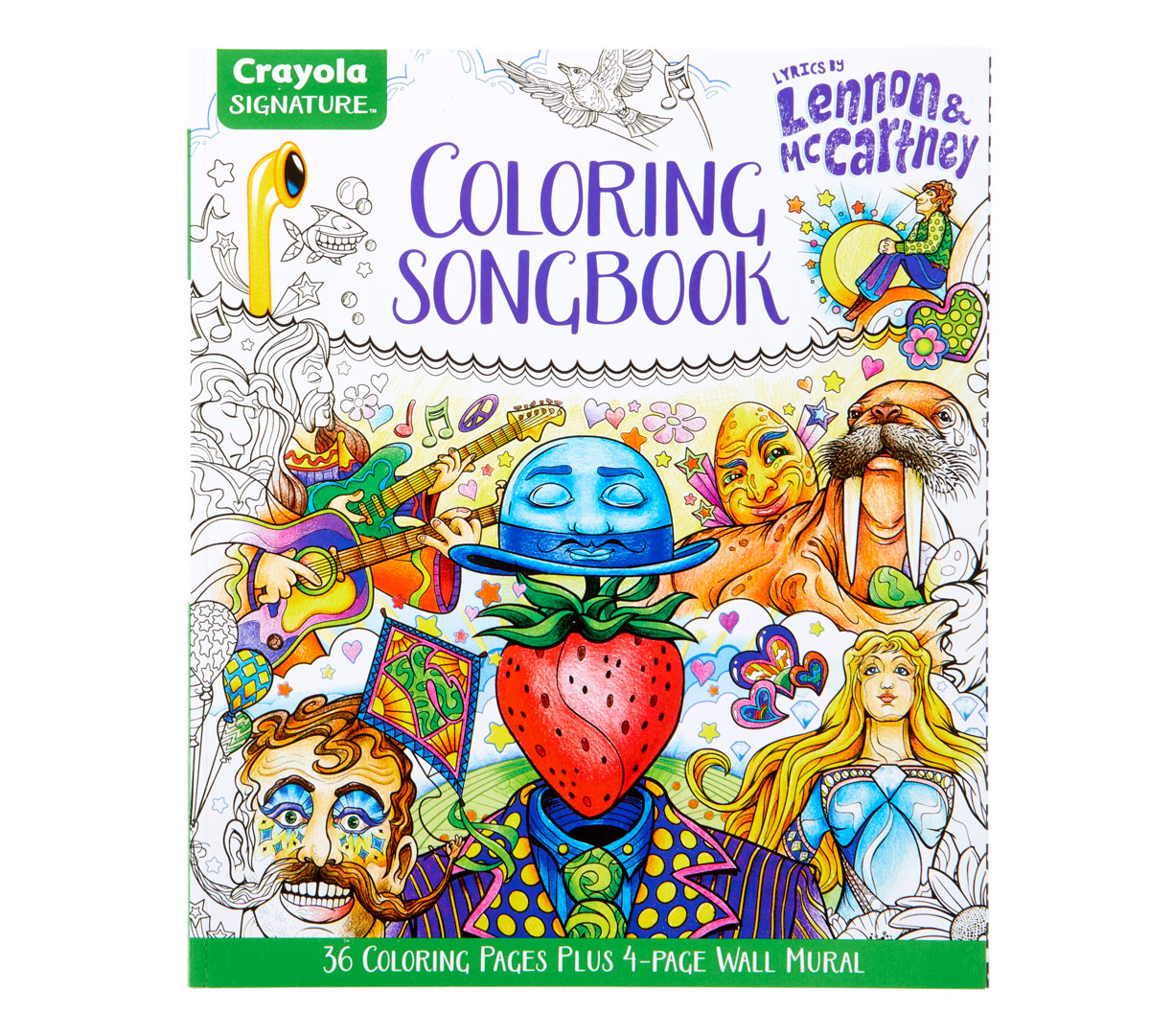 Lennon And Mccartney Lyrics Coloring Book Crayola Com Crayola
