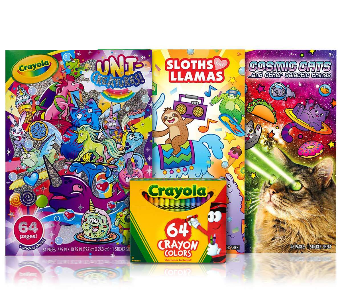 3 Animal Coloring Books with 64 Crayon Box | Crayola.com | Crayola