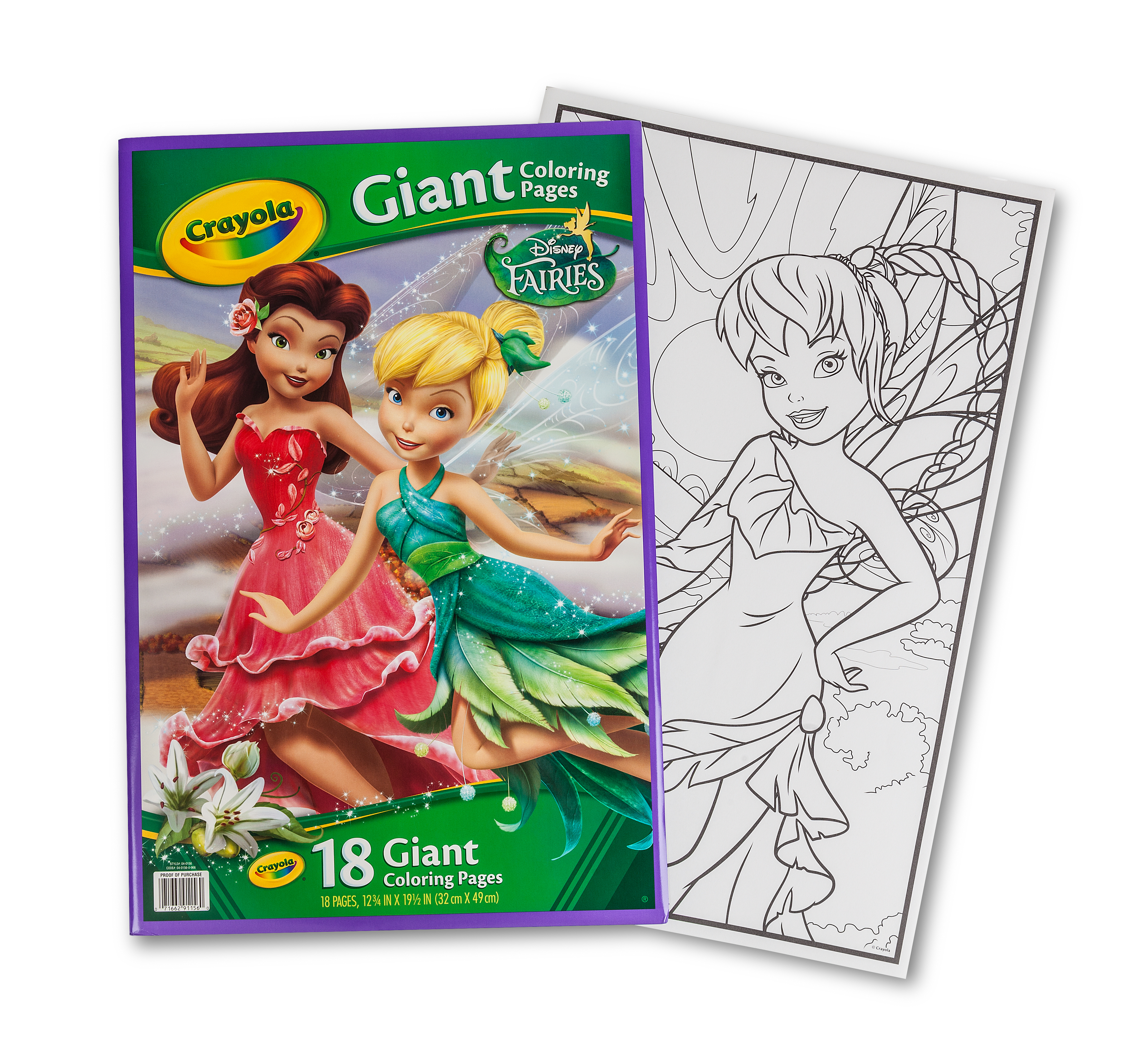 Giant Coloring Pages - Fairies  Crayola