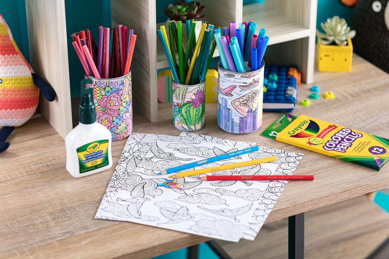 Tin Can Pencil Holder Diy Craft Kit Crayola Com Crayola