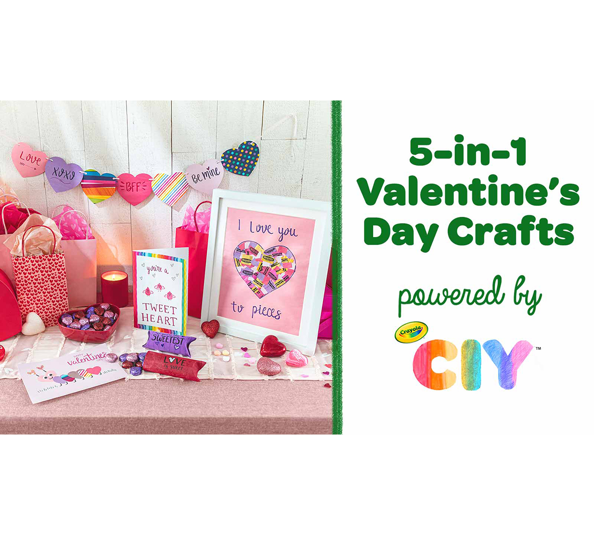 Valentine's Day 5-in-1 Craft Kit Components