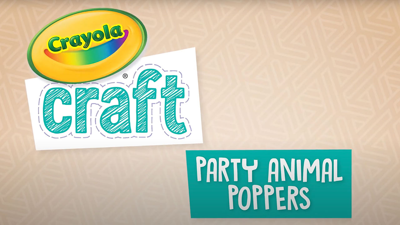 Animal Party Animal Poppers Craft Kit
