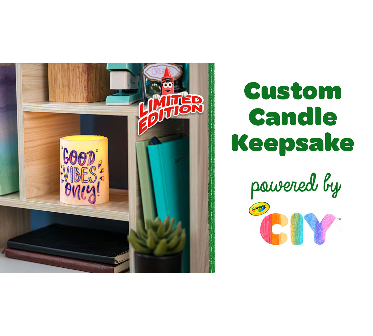 Custom Candle Keepsake Craft Kit Components in Box