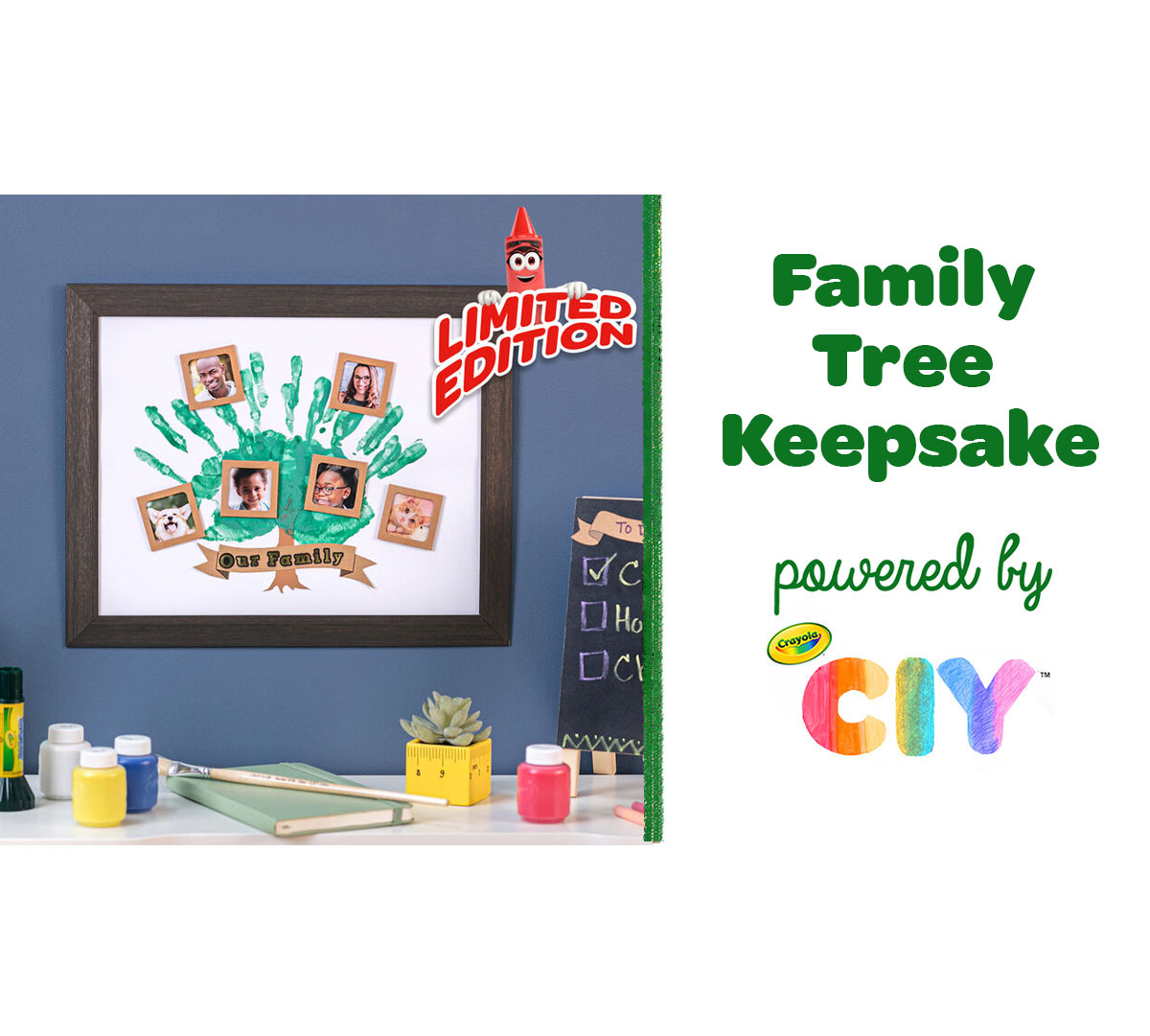Family Tree Keepsake Craft Kit Components in Box