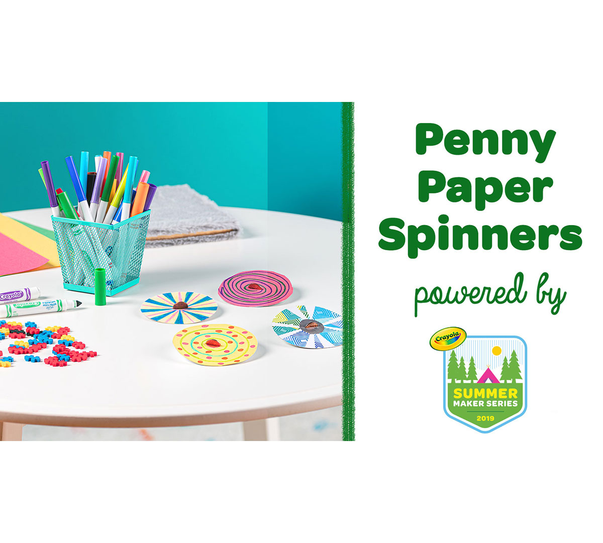 Penny Paper Spinners Craft Kit Front View