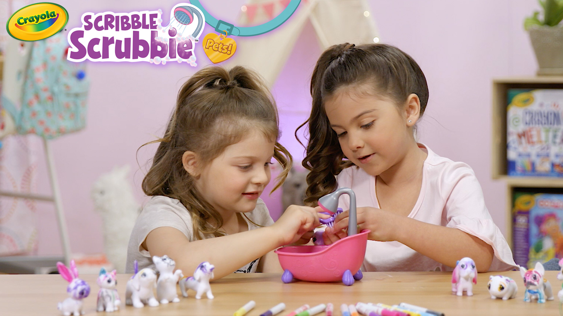 Scribble Scrubbie Pets Scrub Tub Playset Out of Box