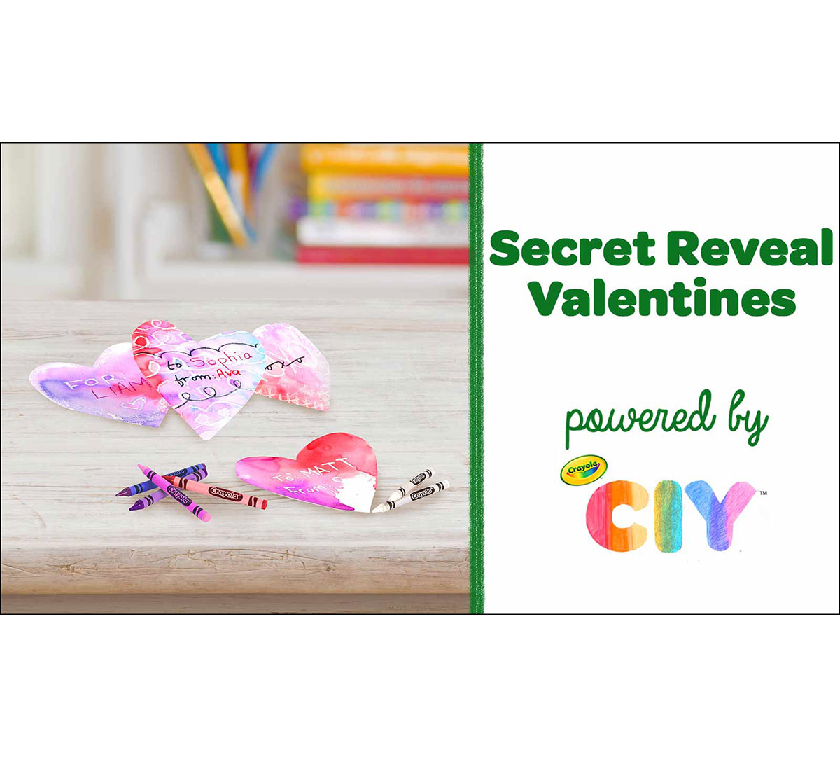 Valentine's Day Secret Reveal Card Craft Kit