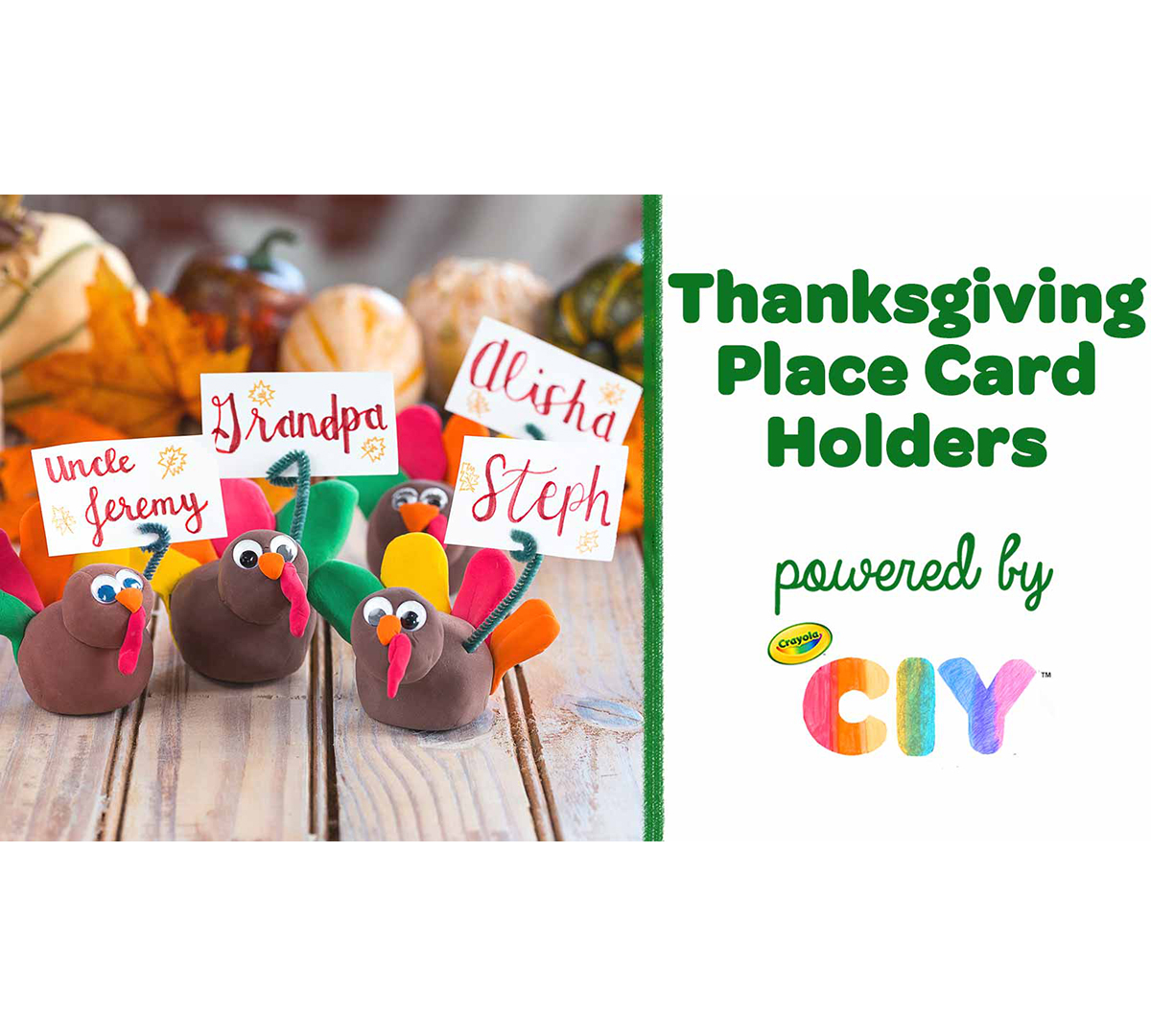 Thanksgiving Place Card Holders Craft Kit