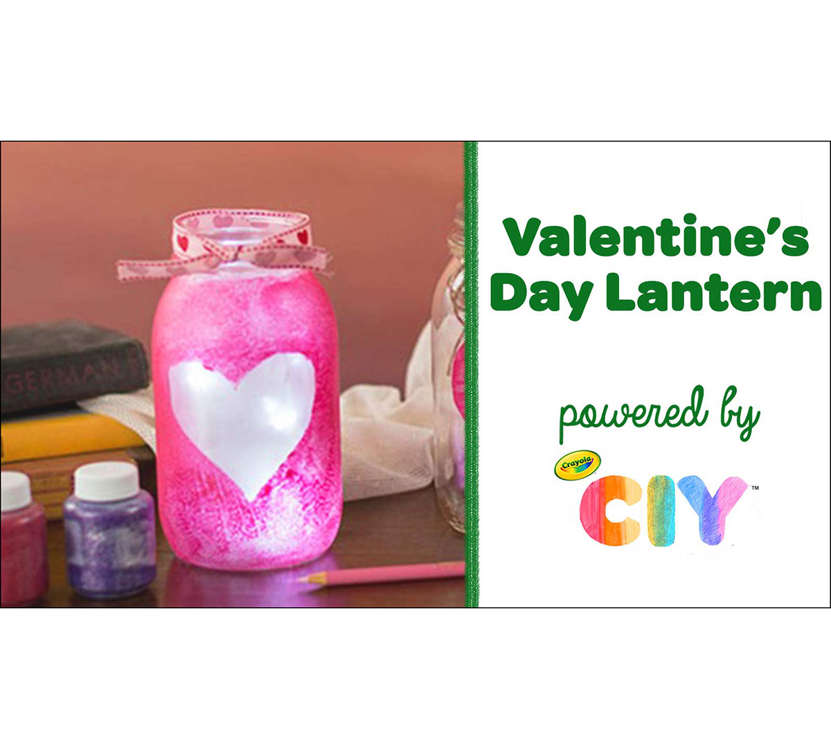 Valentine's Day Lantern Craft Kit Front View of Components